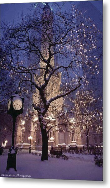 The Old Chicago Water Tower Metal Print