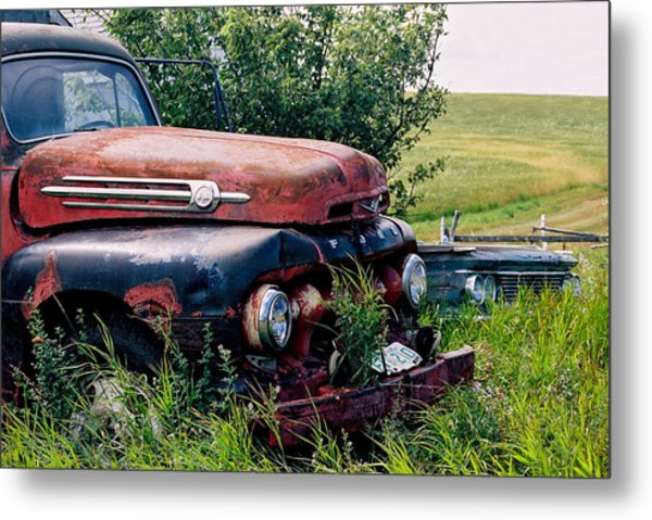 The Old Farm Truck Metal Print