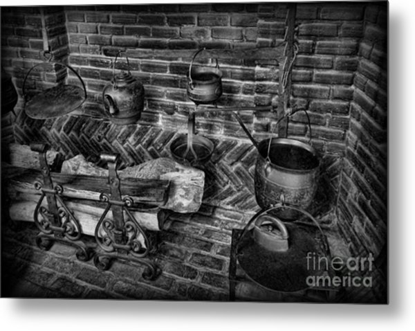 The Old Fireplace Metal Print
