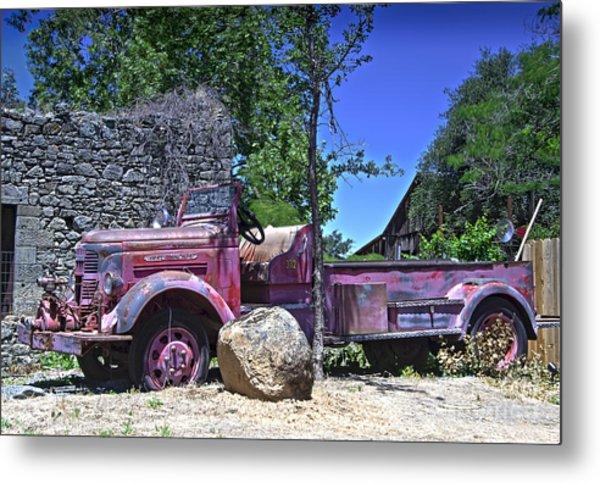 The Old Firetruck Metal Print by Wayne Wilton