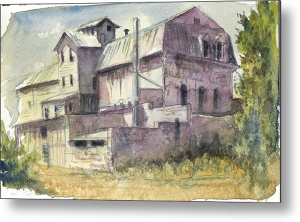 The Old Grain And Feed Store Metal Print