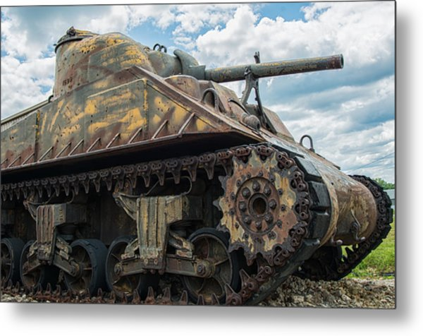 The Old Guardian-sherman Tank Metal Print