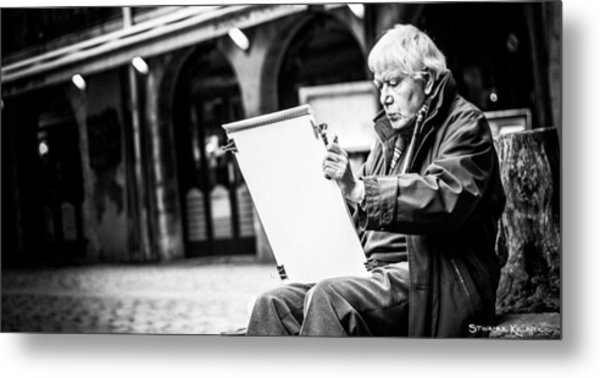 The Old Man Painter II Metal Print