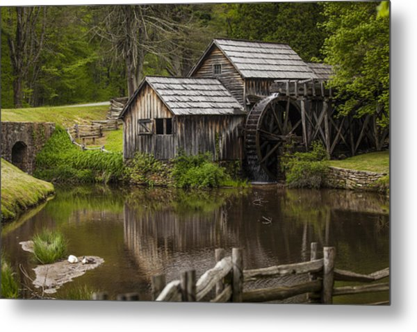 The Old Mill After The Rain Metal Print