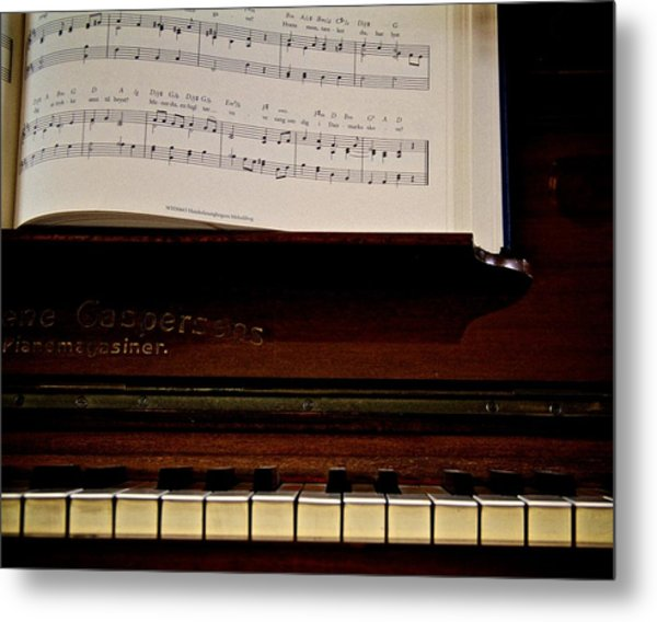 The Old Piano Metal Print by Odd Jeppesen