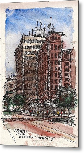 The Old Pioneer Hotel Metal Print