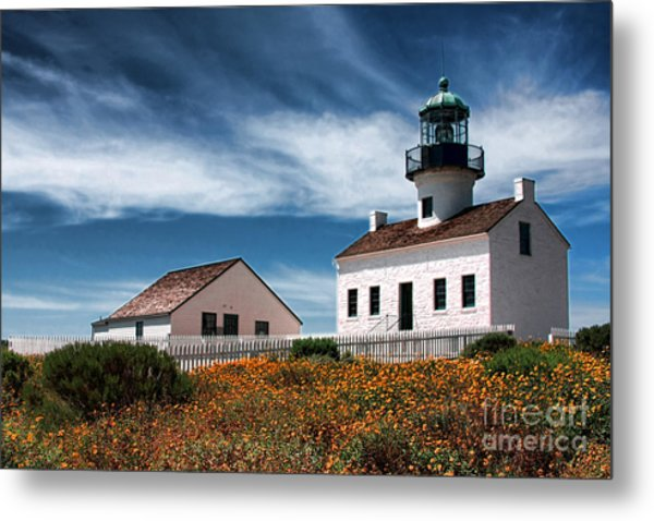 The Old Point Loma Lighthouse By Diana Sainz Metal Print