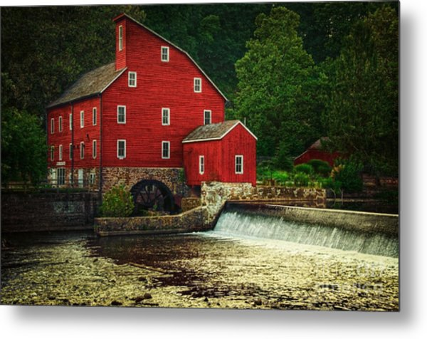 The Old Red Mill Metal Print