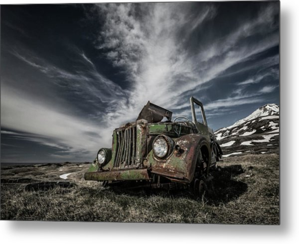 The Old Russian Jeep Metal Print