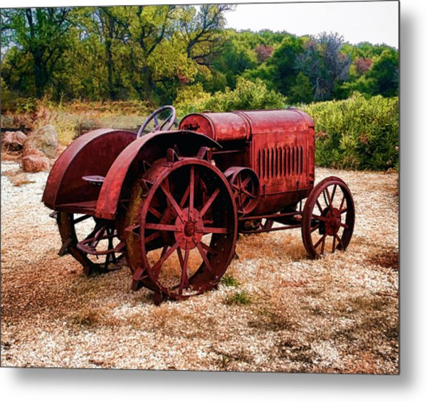 The Old Rust Bucket Metal Print