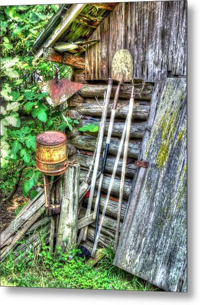 The Old Tool Shed Metal Print