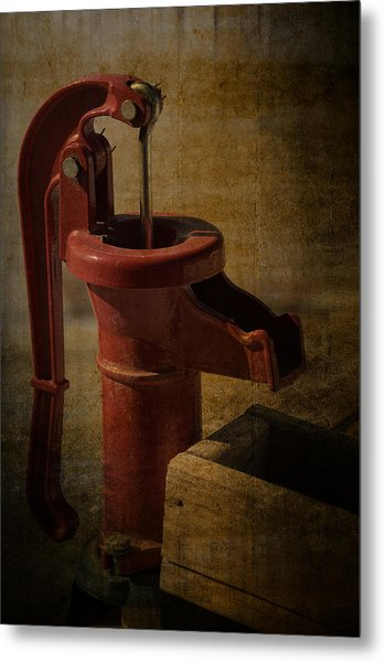 The Old Water Pump Metal Print