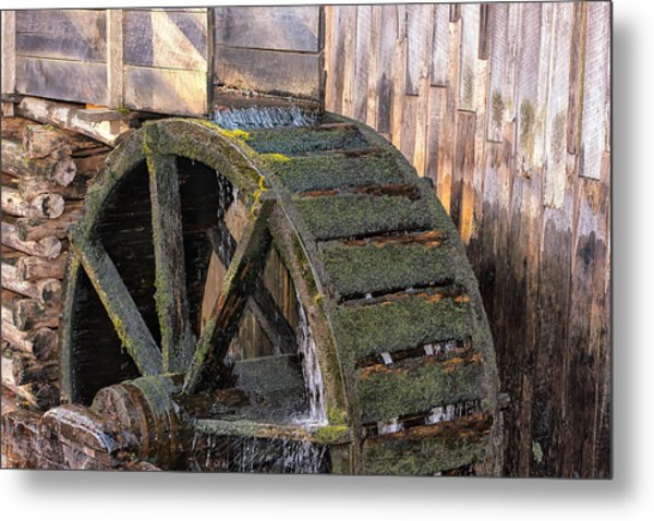 The Old Waterwheel Metal Print