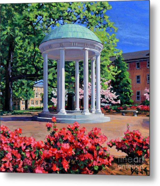 The Old Well - Springtime Metal Print