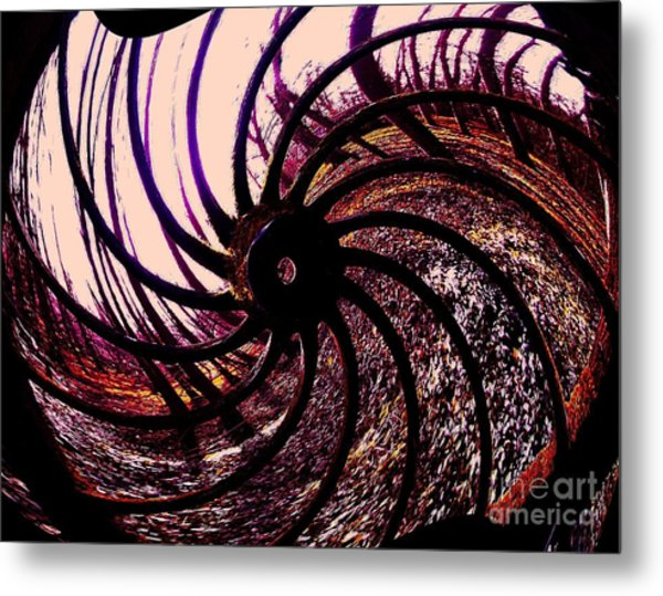 The Old Wheel Metal Print