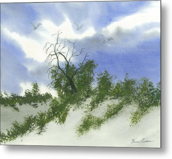 The One Tree Metal Print by Karen  Condron