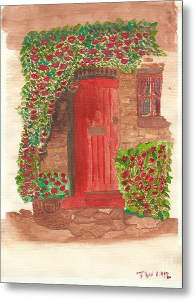 The Orange Door Metal Print