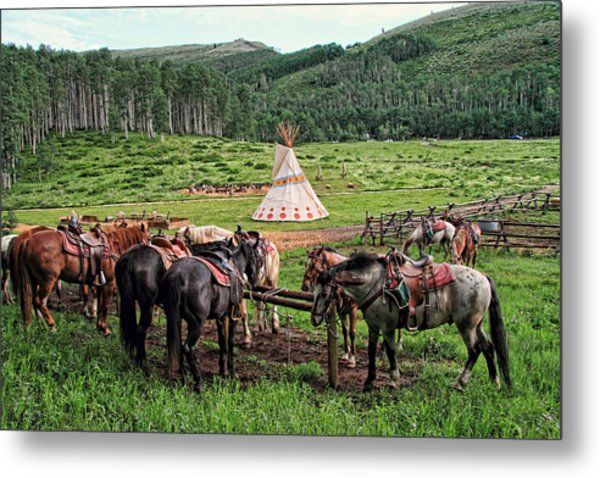 The Outpost Metal Print by Gene Praag