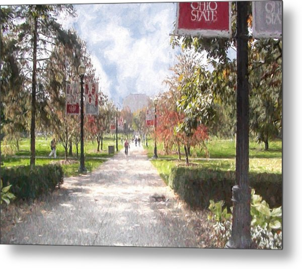 The Oval At Ohio State Metal Print