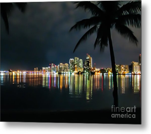The Painted City Metal Print