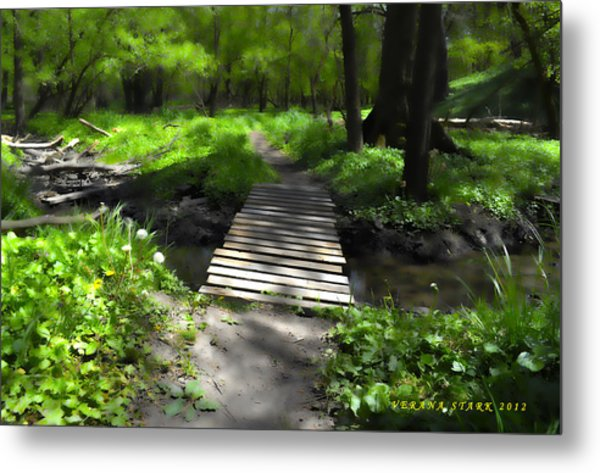 The Painted Forest From The Series The Imprint Of Man In Nature Metal Print