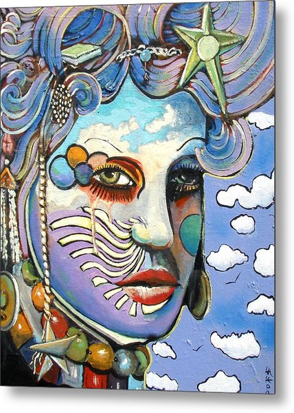 The Painted Lady Metal Print by James  Lalepop Becker