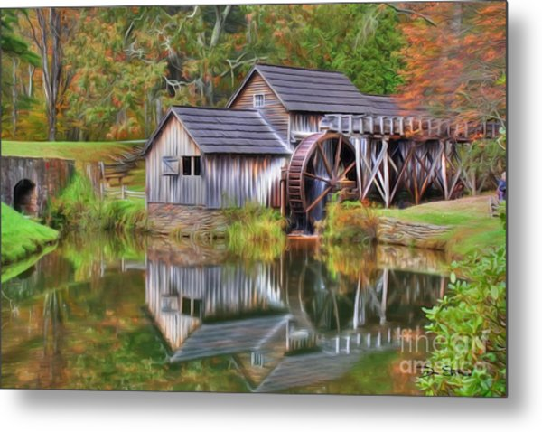 The Painted Mill Metal Print