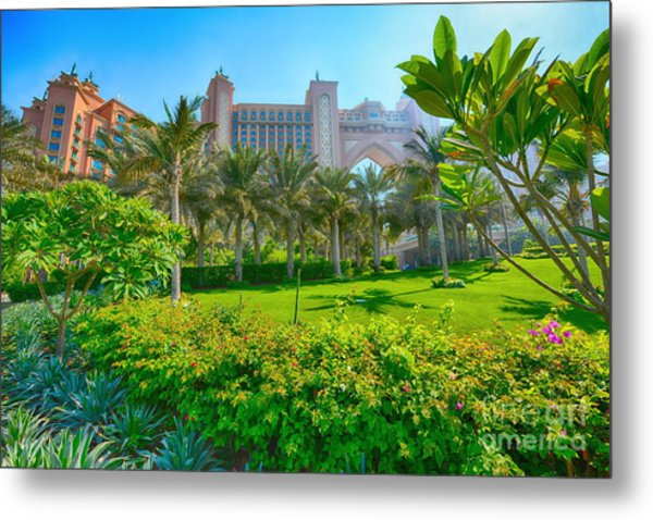 The Palm - Atlantis - Dubai Metal Print by George Paris