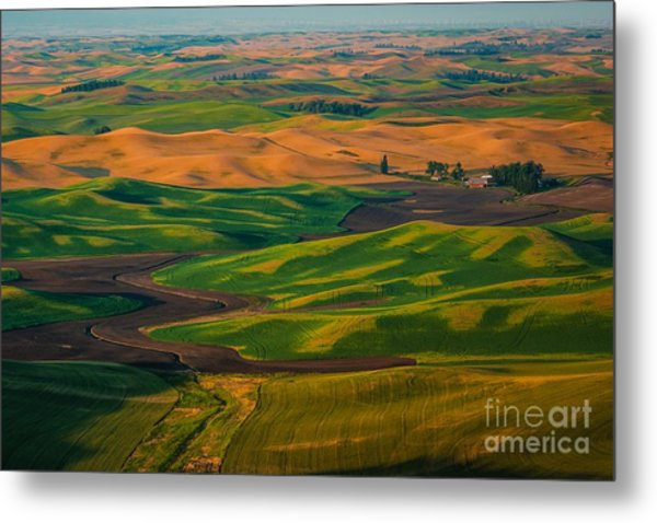 The Palouse Waves Metal Print