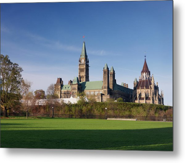 The Parliament Building In Ottawa Metal Print