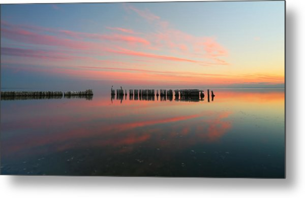 The Pastel Sea - Panorama  Metal Print