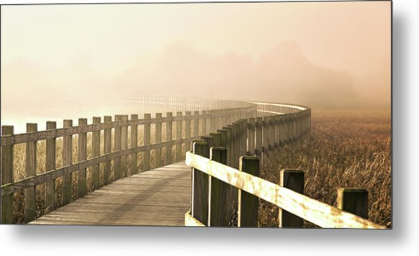 The Path Gets Brighter. Metal Print