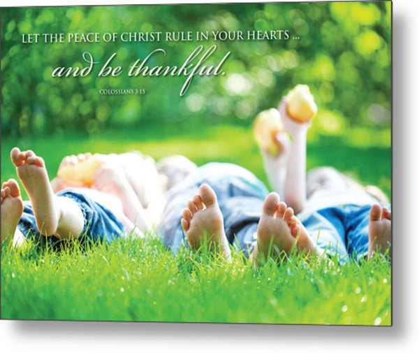 The Peace Of Christ Metal Print