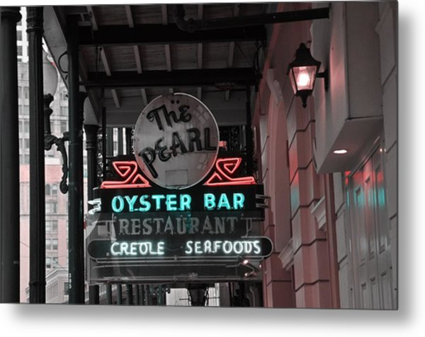 The Pearl Oyster Bar Metal Print