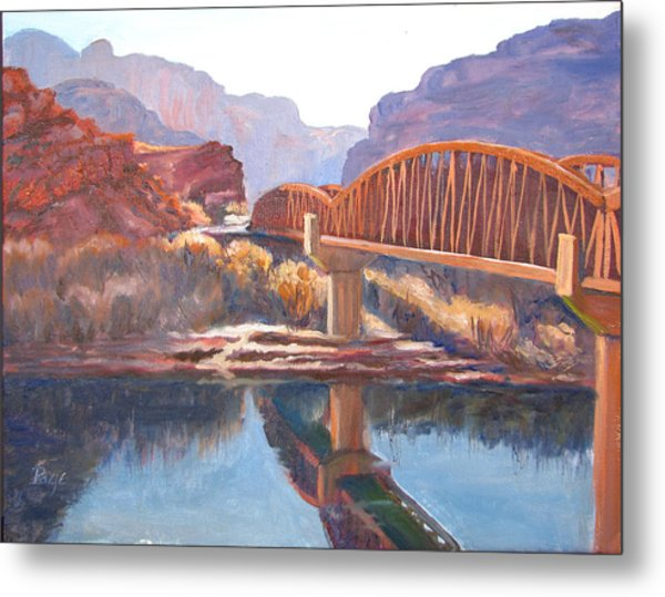 The Pedestrian Bridge Metal Print