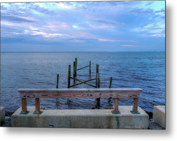The Pier That Once Was Metal Print by Maurice Smith