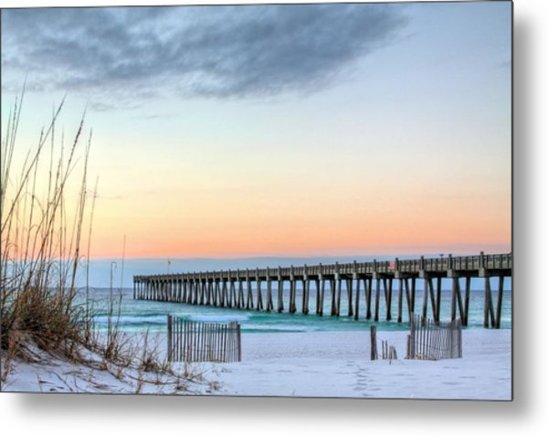 The Pensacola Beach Pier Metal Print