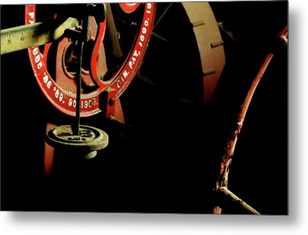 The Perfect Balance - Vintage Scales And Wheels Metal Print