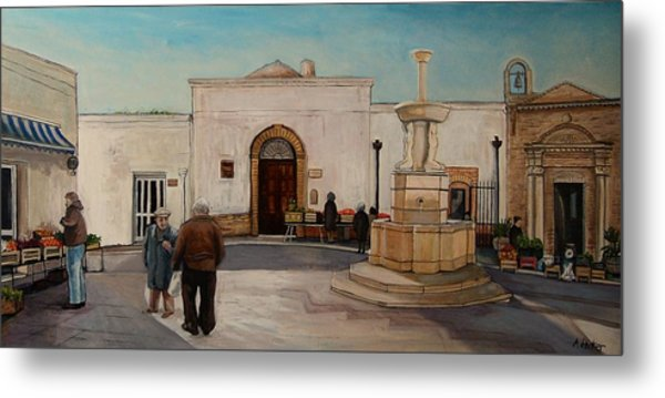 The Piazza Metal Print by Anne Parker