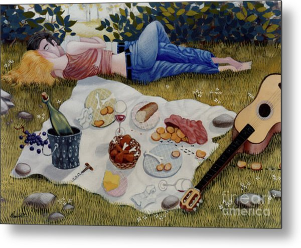 The Picnic 1995 Metal Print