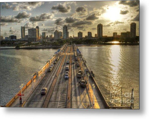 The Pier In Saint Petersburg Florida Metal Print