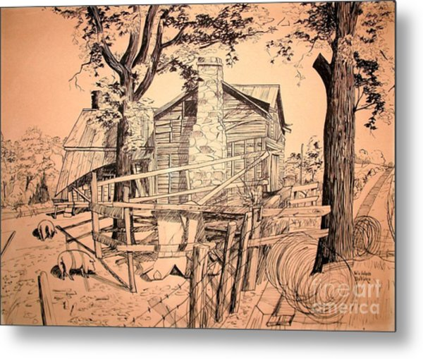 The Pig Sty Metal Print