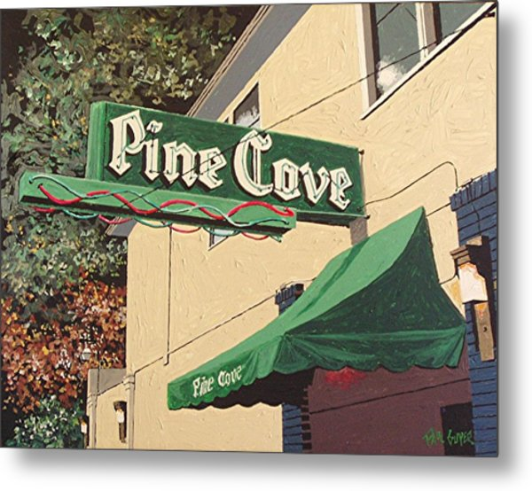 The Pine Cove Metal Print by Paul Guyer