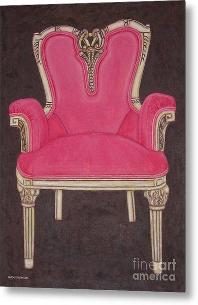 The Pink Chair Metal Print