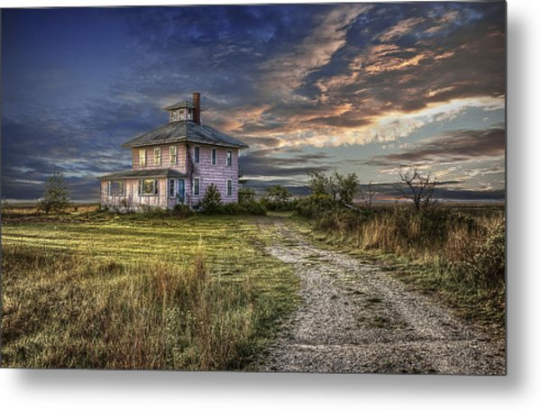 The Pink House - Color Metal Print