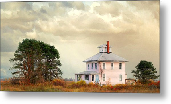 The Pink House Metal Print