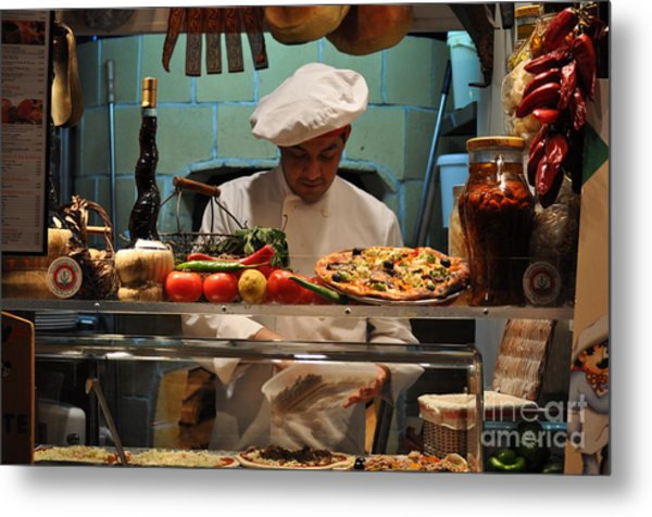 The Pizza Maker Metal Print