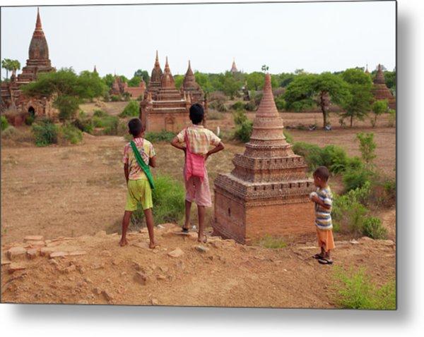 The Plains Of Bagan Metal Print by Zhang Bo