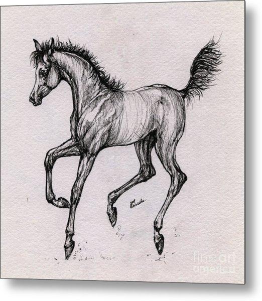 The Playful Foal Metal Print by Angel Ciesniarska