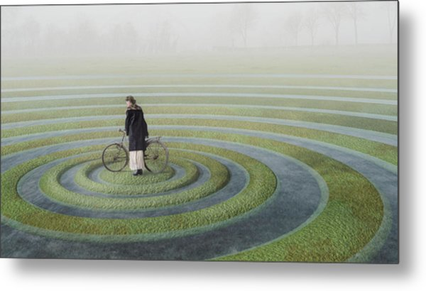 The Point Of No Return Metal Print by Esther Margraff